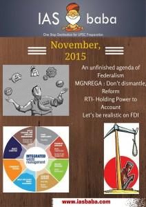 IAS UPSC Current Affairs Magazine November