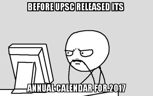 Before Annual Calendar - IASbaba