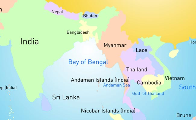 bangladesh map with neighbouring countries