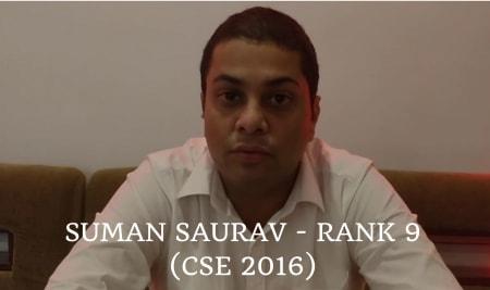 Suman Saurav – Rank 9 (CSE2016)