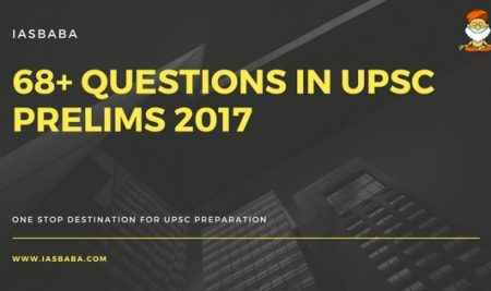 68+ Questions In UPSC Prelims 2017