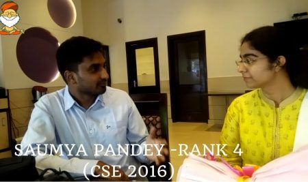 Saumya Pandey – Rank 4 (CSE 2016)