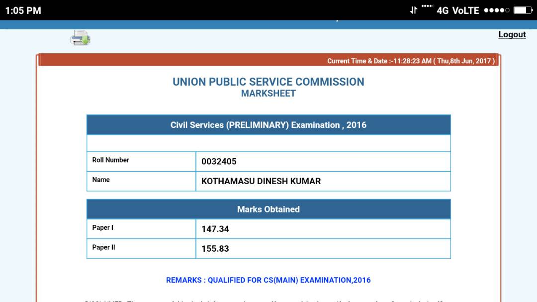 Rank 6, DINESH KUMAR, UPSC CSE 2016 TOPPER'S STRATEGY, 467