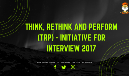 Think Rethink & Perform (TRP)- Interview 2017