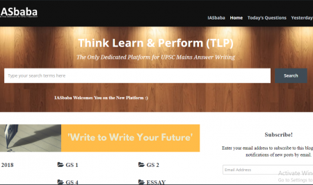 Separate Dedicated Platform for TLP Mains Answer Writing