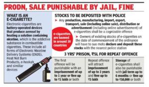 RSTV IAS UPSC – The Prohibition of Electronic Cigarettes Ordinance, 2019