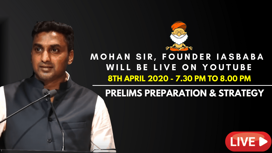 Youtube live - Mohan Sir Founder IASbaba