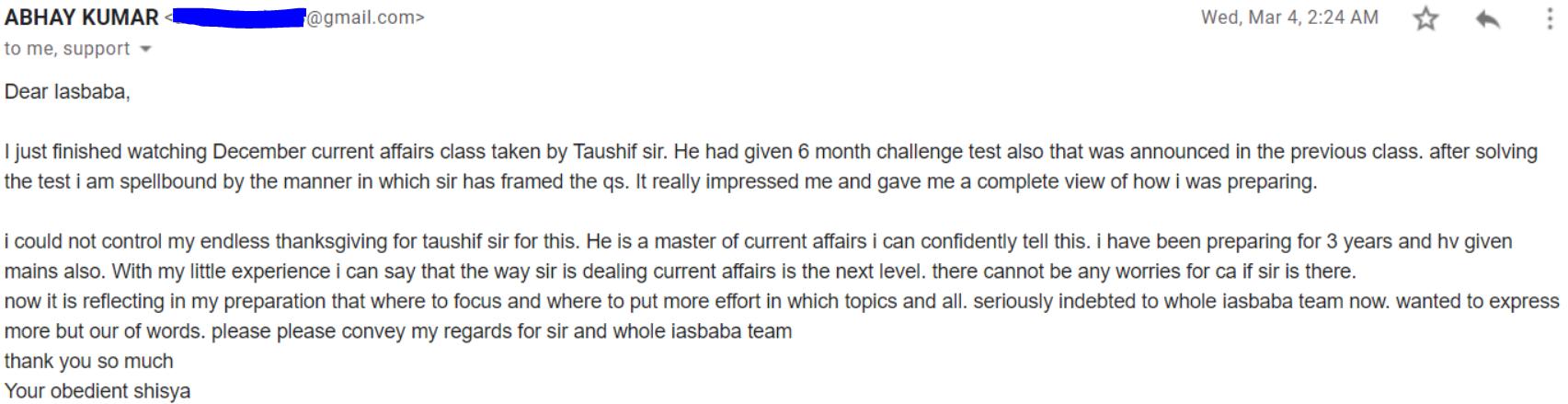 Abhay Kumar PEP Testimonial